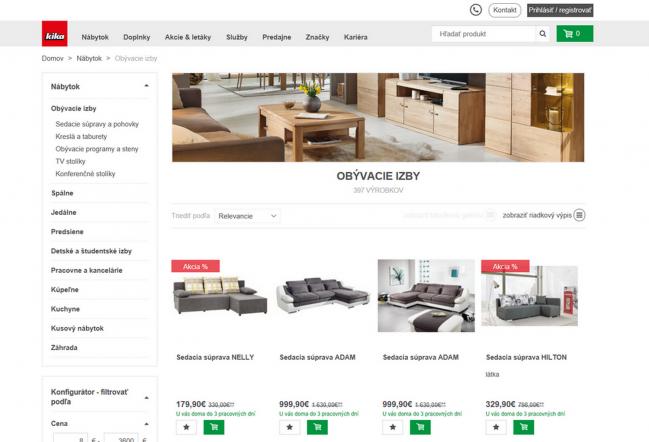 kika n bytok spustila nov e shop aktualizovan spravodajstvo. Black Bedroom Furniture Sets. Home Design Ideas