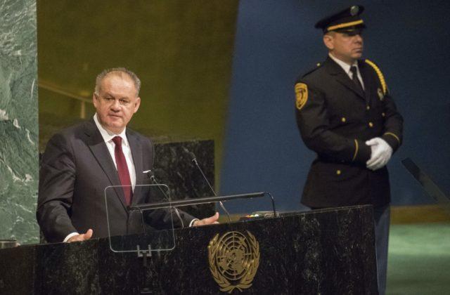 Kiska na Valnom zhromaždení OSN kritizoval Rusko, suverenitu Ukrajiny podkopáva agresívny sused