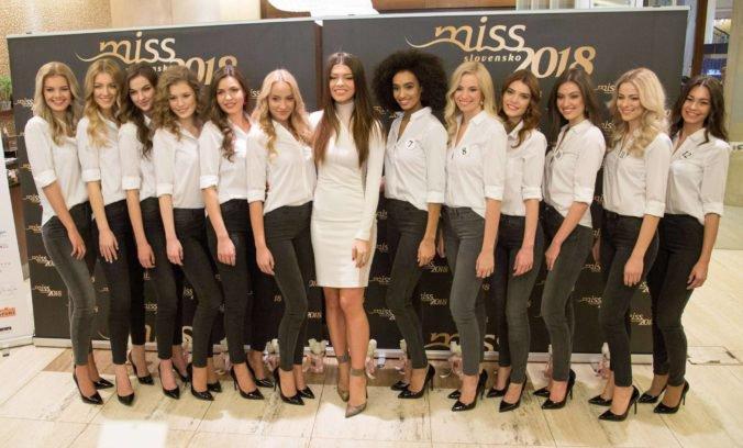 Foto: Karolína Chomisteková predstavila finalistky Miss Slovensko 2018