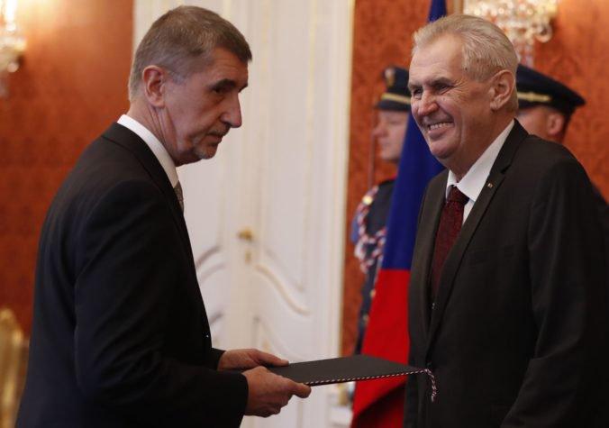 Babiš rokoval so Zemanom o menách nominantov na ministrov v menšinovej vláde
