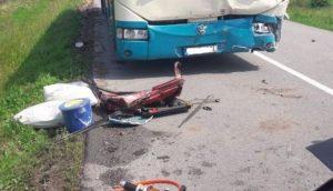 Na ceste I/18 v smere do obce Bystré sa zrazil autobus s dvoma autami