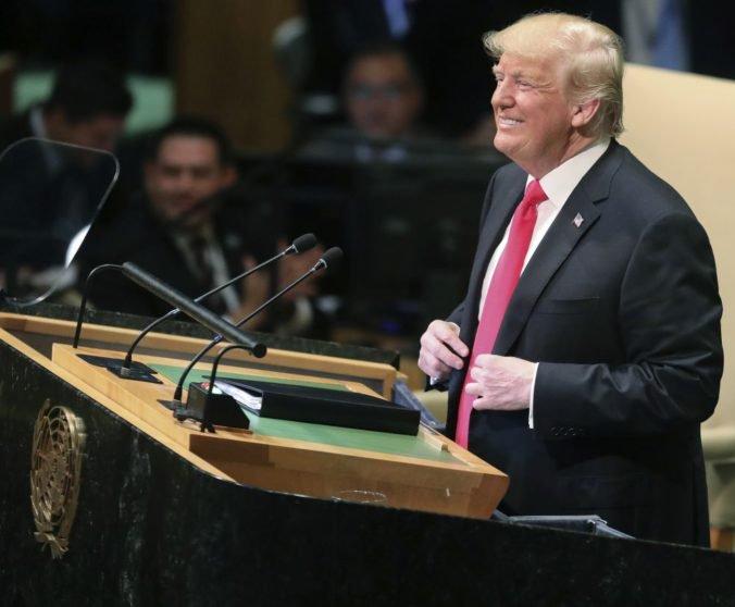 USA sú podľa Trumpa proti globálnej vláde, kontrole a dominancii. Lídri sa mu na pôde OSN smiali